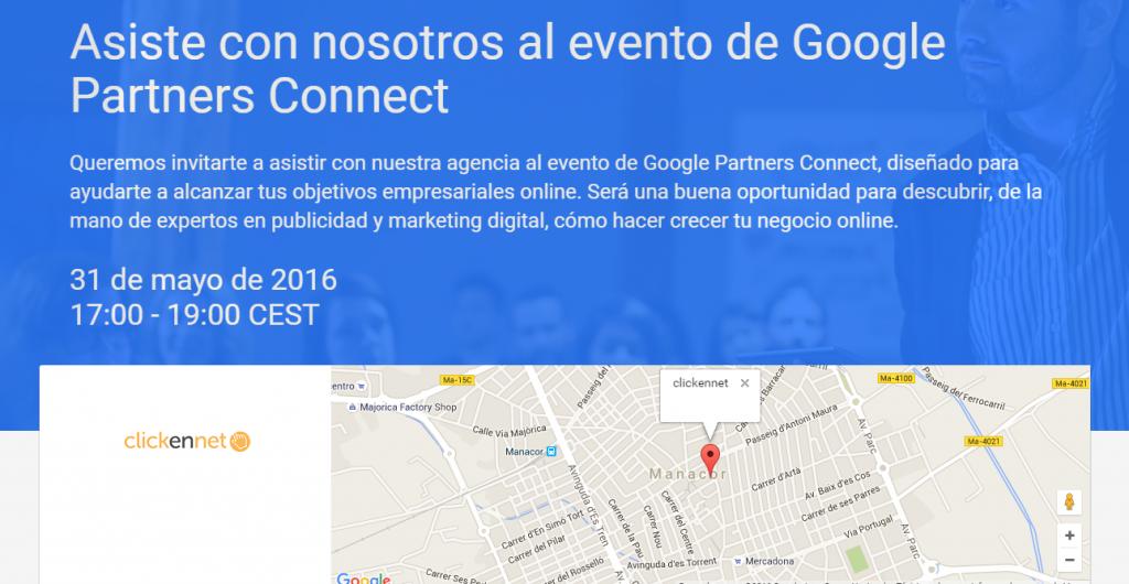 Organizadores del próximo Google Partners Connect